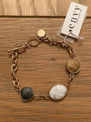 Envy Neutral Tones  Bead and Stones Bracelet