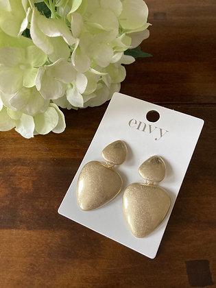 Envy Brushed Gold Drop Earrings