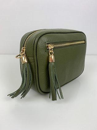 Luella Leather Camera Bag Olive