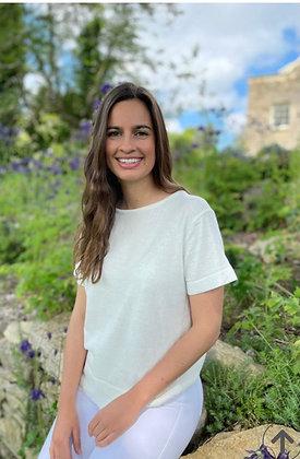 Luella Iona Cotton Knit Top White