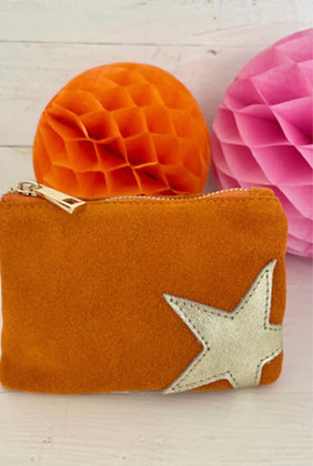 Luella Small Star Purse Orange/Gold