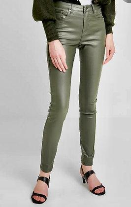 BYoung Kato Kiko Coated Jeans Olive