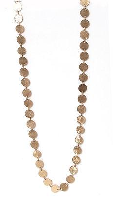 Envy Long Gold Disc Necklace