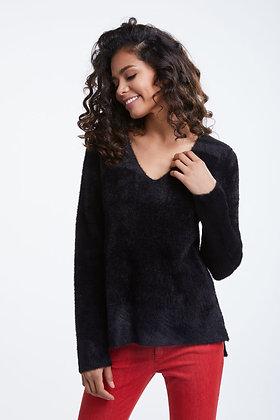 Oui Soft Feel V Neck Sweater Black