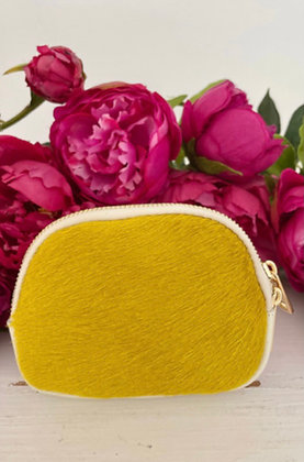 Luella Cowhide Purse Yellow