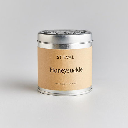 St Eval Honeysuckle Tinned Candle.