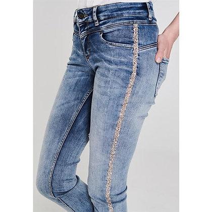 Oui Glitter Jeans, Slim Fit