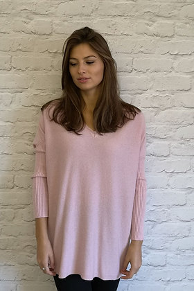 Luella Cashmere Mix Octavia Pink Sweater