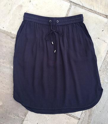 Saint Tropez Casual Drawstring Waist Skirt. Navy