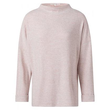 Yaya Brushed Boatneck Sweater Rose Pink