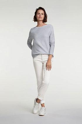 Oui Baxtor Jeans, Slim Fit, Pale Cream.