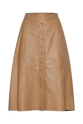 Dranella Maya Leather Skirt Tan