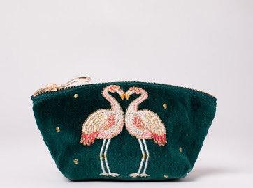 Elizabeth Scarlett Kissing Flamingos Coin Purse