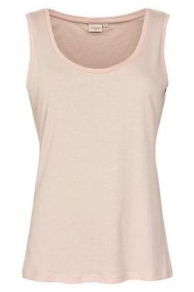 Cream Clothing 'O' Neck Vest. Dusky Pink