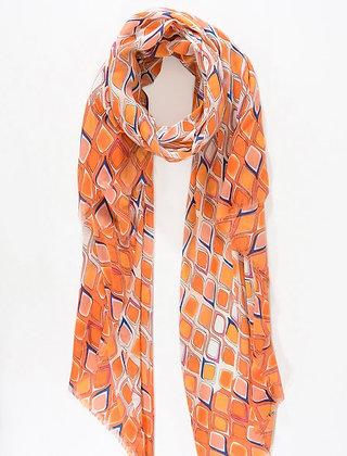 Orange and Blue Scarf