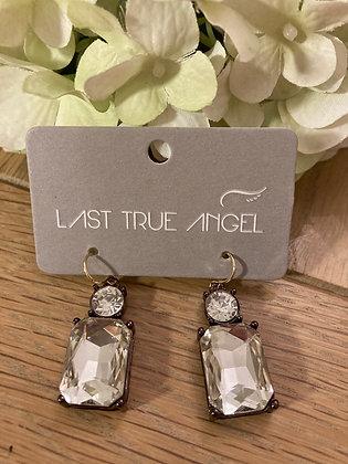 Last True Angel Deco Earrings Clear
