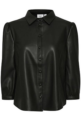 Saint Tropez Bati Shirt Black Faux Leather