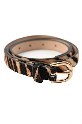 Zebra/Tiger Print Cowhide Belt