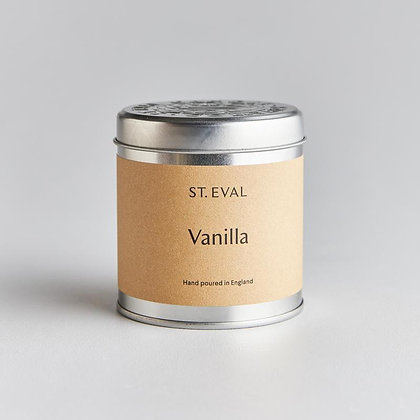 St Eval Vanilla Tinned Candle.