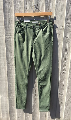 BYoung Coated Jeans.  Spring Green