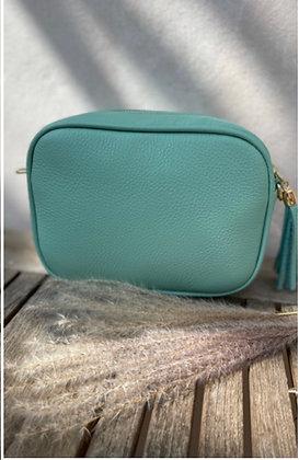 Leather Camera Bag Spearmint