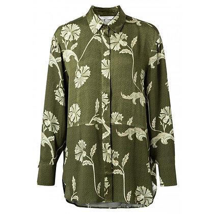 Yaya Floral Blouse Green