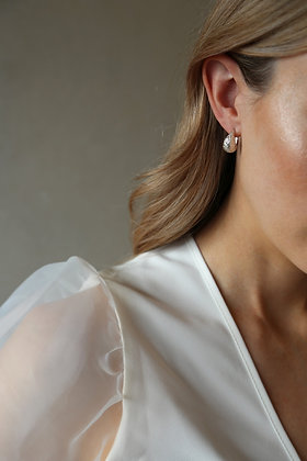 Tutti and Co Dome Earrings Silver.