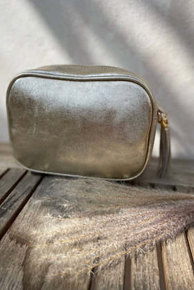 Leather Camera Bag Gold