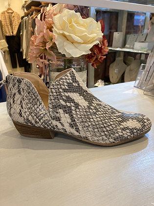 Cara Snakeprint Leather Short Boots