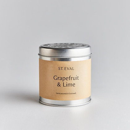 St Eval Grapefruit and Lime Tinned Candle.