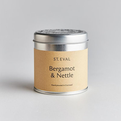 St Eval Bergamot and Nettle Tinned Candle.