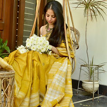 yellow silk saree for gift
