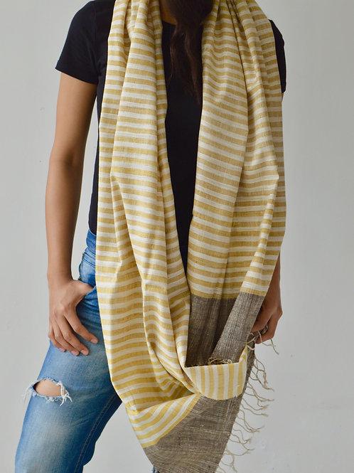Unisex striped handmade  scarf