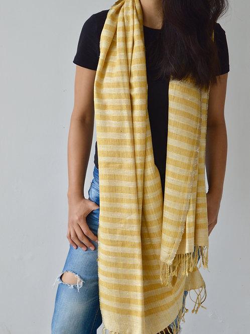 Long yellow unisex scarf
