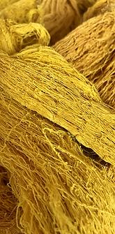 turmeric dyed peace silk yarn