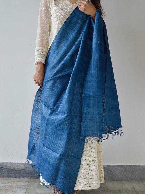plain blue unisex scarf