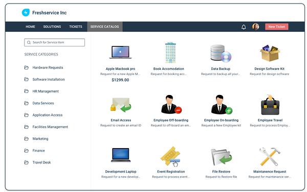 freshservice-Service Catalog