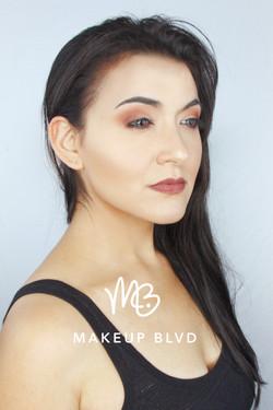 Natural makeup and contouring, makeup done by artist Melina Tobin