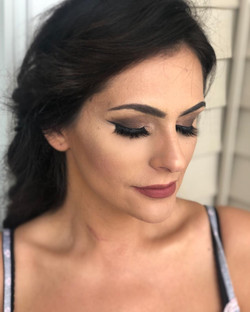 Smoky eye on a bridal client, makeup done by artist Melina Tobin