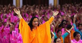 Raseshwari Devi Ji in a Meditation Camp by BGSM