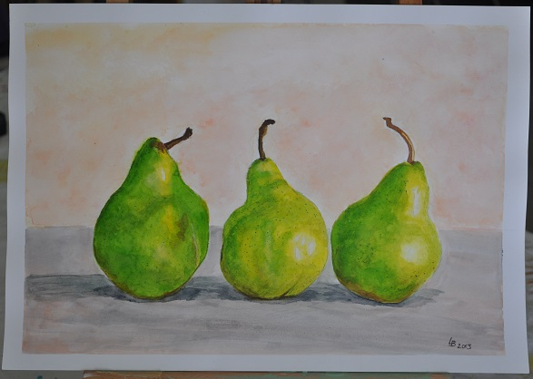 Pear Still Life Exercise