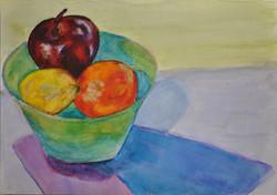 Watercolour fruit bowl
