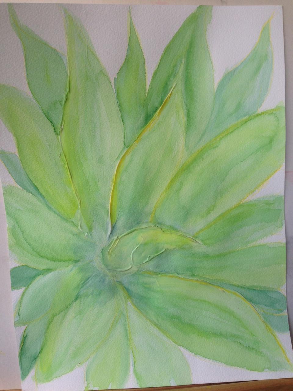 Watercolour and mixed media