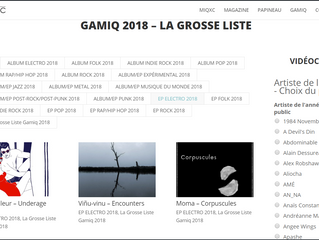 Encounters in La Grosse Liste from GAMIQ 2018 and blog posts about Mountains single+