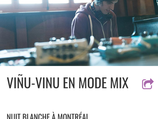viñu-vinu live at l'EtOH Brasserie on March 3rd for Nuit blanche à Montréal