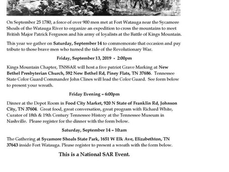 Anniversary Event for Sycamore Shoals