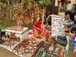 A Tribal Art Market in Shantiniketan