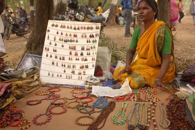 Tribal Jwelleryf made from seeds in Birbhum