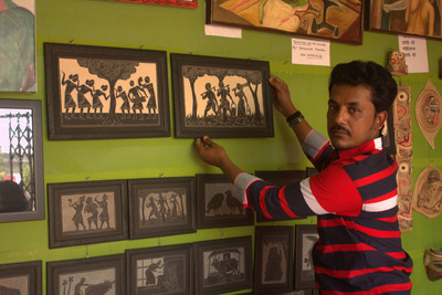Magnificent Slate Paintings from Shantiniketan