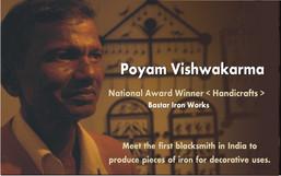 Award Winning Artist  Poyam Vishwakarma